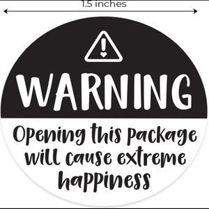 100 pcs|Warning Extreme Happiness Package Stickers